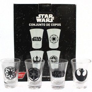 CONJ.KIT SHOT C/4PÇS 60ML STAR WARS SIMOLOS