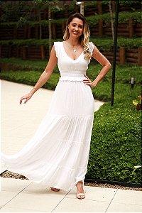 Vestido longo branco