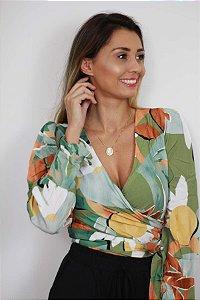 Blusa transpassada fashion
