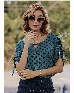 Blusa elegante Polka Dots