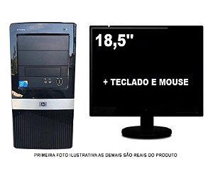 Computador Hp Compaq Core 2 Duo 4gb 500gb HD Com Monitor