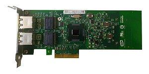 Placa de rede Dual Port gigabit Intel E1g42et / Perfil baixo