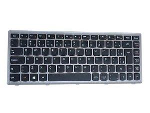 Teclado Notebook Lenovo 25213546 Prata