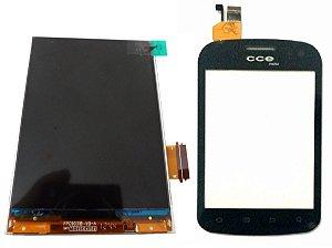 Tela Display Lcd + Touch Cce Mobi Sm55 Original