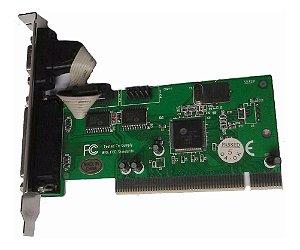 Placa Serial Pci 1 Porta Serial Db9 E 1 Paralela  Sem Driver
