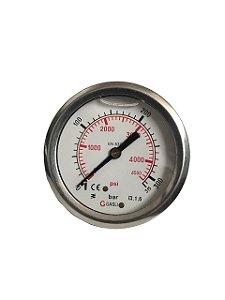 Manômetro Gasli 315 bar 4500 psi