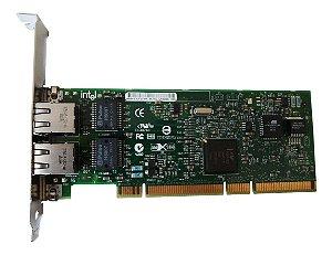 Placa De Rede Dual Port Intel D33025 Gigabit Pci-x 133