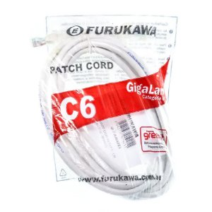 Kit com 10 Patch Cord 3m FURUKAWA CAT 6