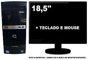 Computador Hp Compaq DualCore 4gb Ddr3 120Gb SSD Mon 18,5