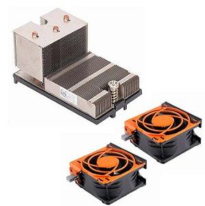 Dissipador Servidor Dell R720 + 2 Cooler Servidor Dell R720