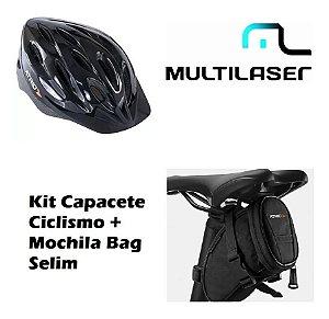 Capacete Ciclismo Atrio Alças Ajustáveis Bi002 + Bolsa Selim