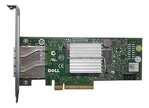 Controladora Sas Dell H200e 6g P/n G164p 2p externa
