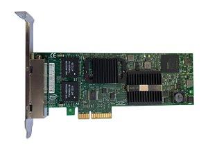 Placa De Rede Quadport Gigabit Intel E1g44et2 D42543 Pci-e
