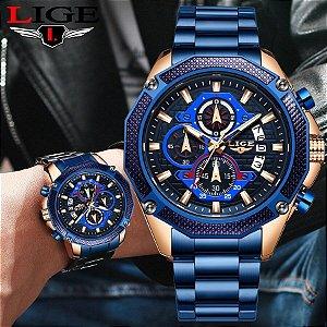 Relógio Masculino Luxuoso - LIGE Hombre 2019