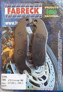 Pastilha Freio Crosser150/Lander 2016/Crf250L Dianteira Fabreck