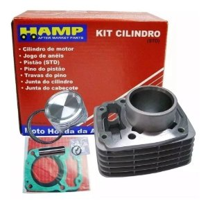 Kit Cilindro Pistão e Anéis Fan125 09 Hamp