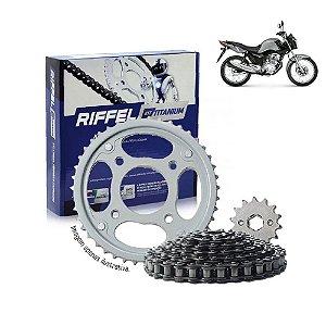 Kit Transmissão Riffel Titanium Titan150/Fan150