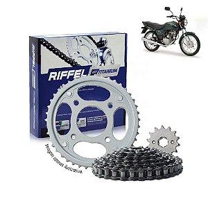 Kit Transmissão Riffel Titanium Titan2000/Fan125 2006/08