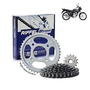 Kit Transmissão Riffel Titanium Fan125 2009/13
