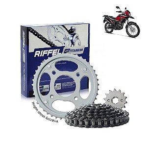 Kit Transmissão Riffel Titanium Bros160/Xre190