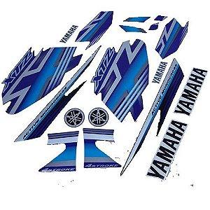 Kit Faixas Adesivos Xtz 125 2009 Azul