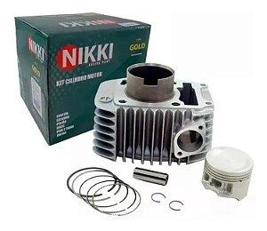 Kit Cilindro Pistão e Anéis Biz125 Nikki