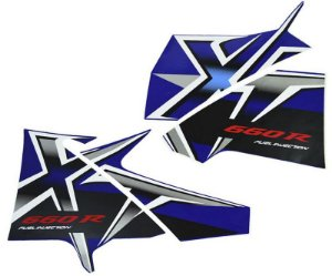 Kit Faixas Adesivos Xt660 08 Azul