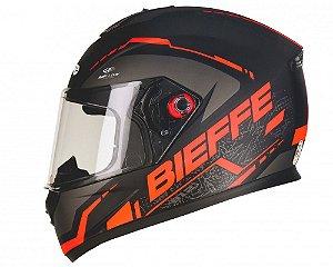 Capacete Bieffe B-12 Naked Preto Fosco/Vermelho