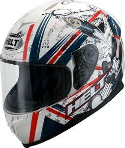 Capacete Helt New Race Space Vermelho/Branco