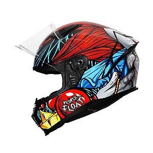 Capacete Helt New Race Joker Vermelho/Azul