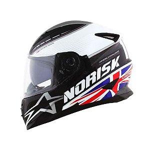 Capacete Norisk FF302 Grand Prix United Kingdom C/Óculos