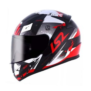 Capacete LS2 FF353 Rapid Grow Black/Silver/Red