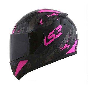Capacete Ls2 Ff353 Rapid Palimnesis Gloss Black/Pink