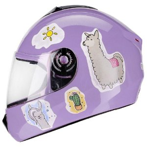 Capacete Fly Fun Lhama Lilas