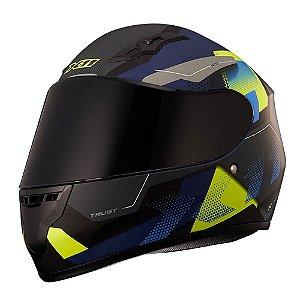 Capacete X11 Trust Pro Transit Azul/Neon