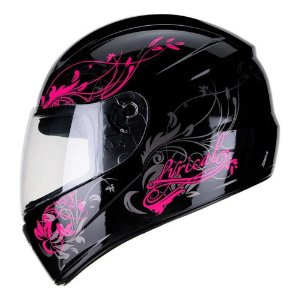 Capacete Fly F9 Lyrical Preto/Rosa