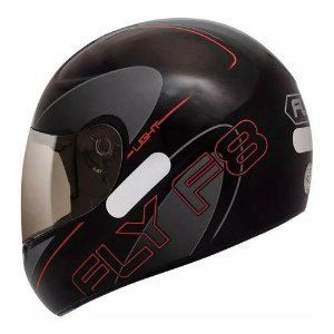Capacete Fly F8 Light Preto/Grafite