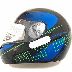 Capacete Fly F8 Light Preto/Azul