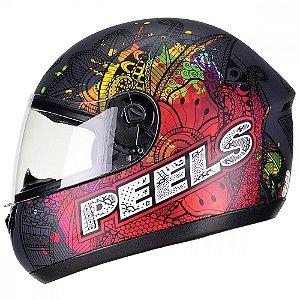Capacete Peels Spike Indie Preto Fosco/Color