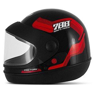 Capacete Pro Tork 788 Sport moto Preto/Vermelho