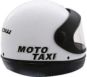 Capacete Gow Interlagos Moto Taxi Branco