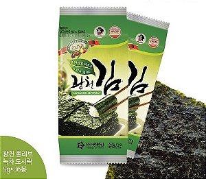 Alga Coreana c/ Matcha & Azeite -  01 UN (pacotinho com 10 folhas) 5g