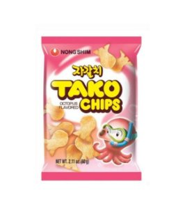 Salgadinho Coreano Tako Chips - Sabor Polvo e Frutos do Mar 60g