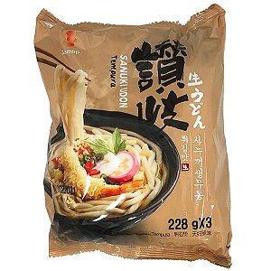 Macarrão Coreano Udon sabor Tempura - 228g x 3un  (pré cozido)