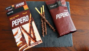 Pepero Sabor Peanut & Chocolate - 32g (Amendoim e Chocolate)