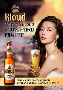Cerveja Coreana KLOUD Lotte - (Lager) 330ml