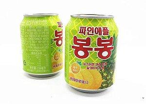 Suco Coreano Haitai Bonbon - ABACAXI 238ml (Com Fiapos de Fruta)
