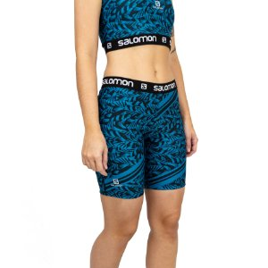 SHORT SALOMON GRAPHIC TIGHT II F AZUL ARTDECO