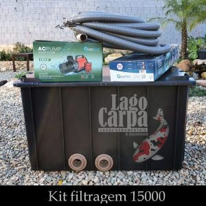 Filtra até 15.000 - Lago Carpa