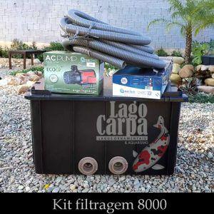 Filtra até 8.000 - Lago Carpa